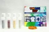 VSCO Girl - TIE-DYE kit van hoge kwaliteit - Complete kit van 4 kleuren textiel - Tie Dye set - Tie Dye verf premium kwaliteit