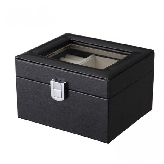 Luxe Sieradendoos - Juwelen doos voor sieraden organizer (ring, ketting, oorbellen,) – Dames bijouterie doos -Zwarte