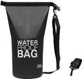 Waterproof Drybag - Drybag 20 Liter - Waterdichte tas – Strandtas - Zwart