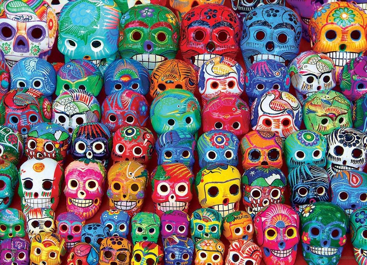 Puzzel 1000 stukjes-Mexican Skulls