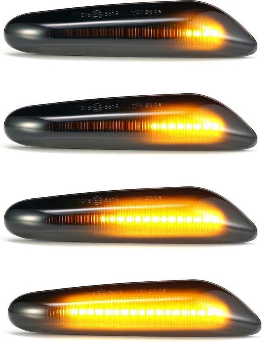 LED Dynamic Zijknipperlichten voor BMW E90 E91 E92 E93 E60 E87 E82 E46 – Smoke / Zwart
