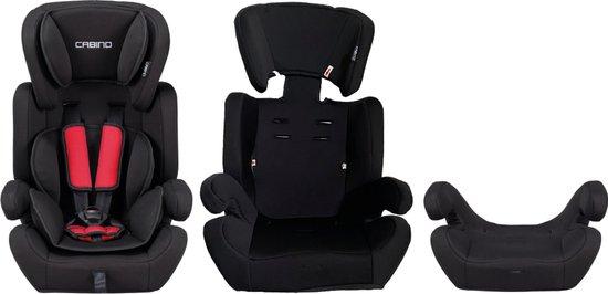 Cabino Autostoel 9-36kg - Zwart-Rood