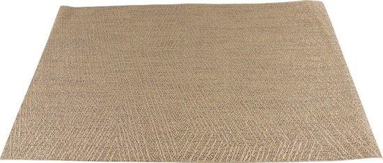 Placemats (6 stuks) Polyester | Goud | 30 x 45cm | Anti-slip | Hittebestendig | Onderhoudsvriendelijk | Tafelaccessoires | Onderzetters