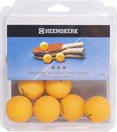 Heemskerk Gold Tafeltennisballen per 12 stuks - Oranje - 3 ster