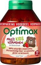 Optimax Multivitaminen Kids Aardbei - Voedingssupplement - 180 kauwtabletten