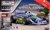 Benetton Ford B194 - Jos Verstappen - Revell modelbouw pakket  1:24 - geschenkset