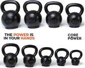 Core Power Gietijzeren Kettlebell 4 kg   Geschikt voor professioneel en intensief gebruik zoals Fitness, Krachttraining en Crossfit   Met rubberen voet ter bescherming van vloer (4 tm 32 kg)