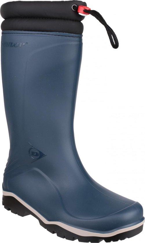 Dunlop Laarzen Rubber Laarzen Heren Gevoerde Laarzen Werk Laarzen Blauw Maat 47