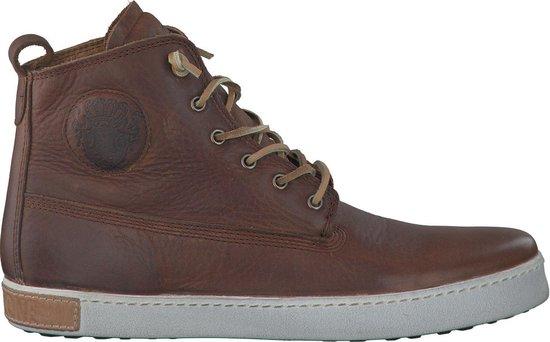 Blackstone Heren Hoge sneakers Am02 - Bruin - Maat 42