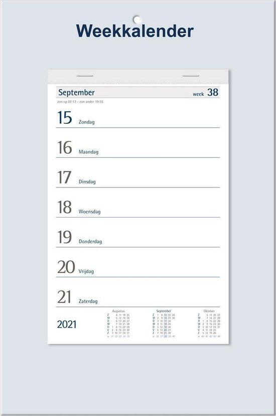 Afbeelding van Castelli weekkalender op schild 2021 - weekplanner - 33 x 20 x 1.2 cm - week op 1 pagina