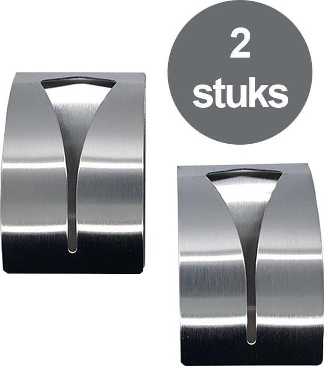 2 Stuks RVS Handdoekhouders - Handdoek Klem - Handdoek haak