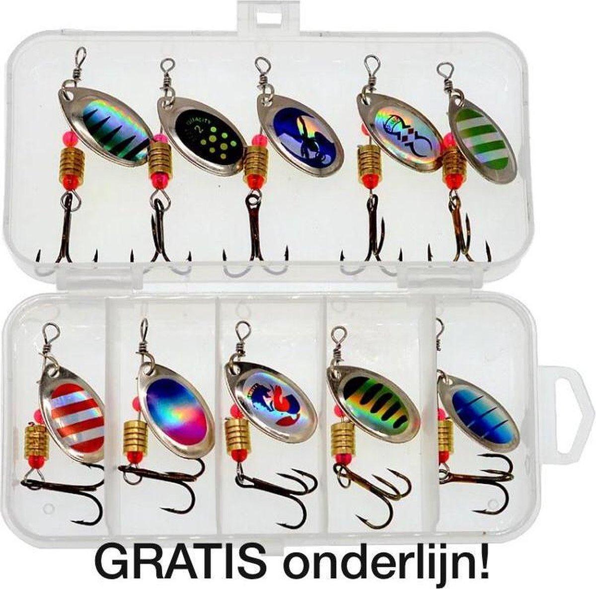 Kunstaas set 2   Kunstaas set voor roofvis - incl GRATIS onderlijn - pluggen met haak - perfect voor