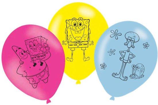 6 ballonnen Spongebob