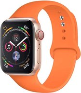 MIRO   Oranje Silicone band voor Apple Watch   1/2/3/ 42mm   4/5 44mm