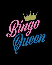 Bingo Queen: Score Sheet Record Notebook - Gift for Seniors, Retirees, Grandma