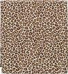 Cottonbaby dekenhoes ledikant panterprint bruin 100x135 cm