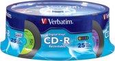 Verbatim Digital Vinyl CD-R™ 80MIN 700MB 25pk Spindle 25 stuk(s)