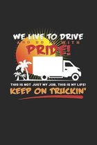 Keep on truckin': 6x9 Truck Driver - dotgrid - dot grid paper - notebook - notes