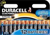 Duracell Ultra alkaline AA-batterijen, verpakking van 12