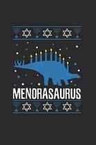 Hanukkah Menorasaurus Notebook