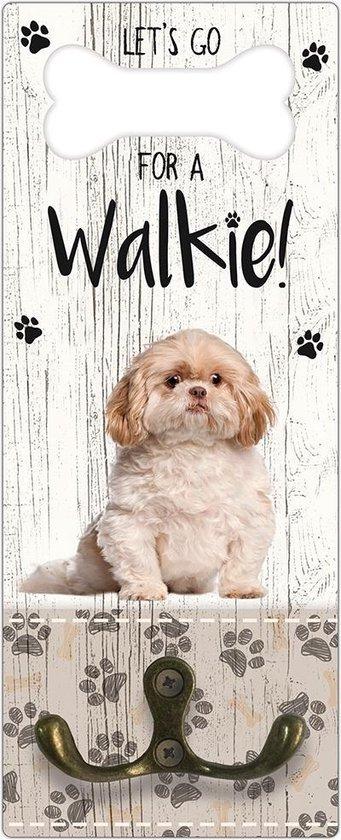 Leibanddrager: Shih Tzu - Kapstok voor: Hondenriem - Halsband - Hondentuig
