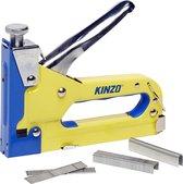 Kinzo Tacker Nietmachine - incl. 1500 Spijkers en Nieten - voor Vloerbedekking en Hout - Traploos Instelbaar