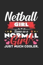 Netball girl: 6x9 Netball - grid - squared paper - notebook - notes
