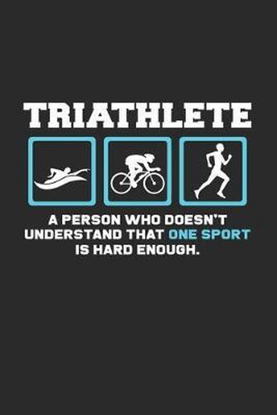 Triathlete sport: 6x9 Triathlon - dotgrid - dot grid paper - notebook - notes