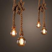 Vintage Retro Hennep Touwlamp - Hanglamp 1m - Industriele Fabrieks Stijl - Lamp - Verlichting