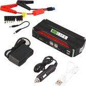 BELIFE® 3-in-1 Jump Starter met Powerbank - Jumpstarter - Starthulp met 12V Accu Lader voor Auto, Motor, Scooter, Boot - USB 5V/2.4A Poort - Draagkoffer - Rood/Zwart - 8000mAh