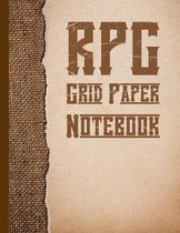 RPG Grid Paper Notebook: Squared Graph Paper Sheets For Role Playing Games