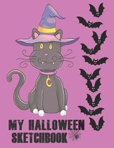 My Halloween Sketchbook: Cute Halloween Gift Book, large 8.5 x 11in pages for drawing doodling sketching or making memories