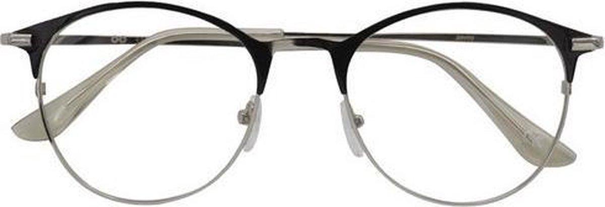 Croon Leesbril Janis Dames Zwart/zilver Sterkte +2.50 kopen