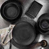 Kutahya porselein nano krem serviesset (24 delig) 6 personen - zwart