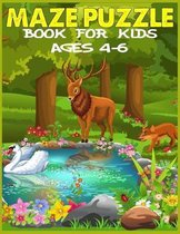 Maze Puzzle Book for Kids Ages 4-6