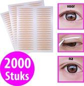 Ooglid stickers - Ooglidstickers - Ooglidtape - 2000 stuks - Ooglidcorrectie - Ooglift - Tegen hangende ogen - Ooglidcorrectie stickers - Ogen - Oog strips - Oog stickers - Ooglid
