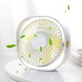 Krachtige Mini Fan - Wit - Bureau ventilator - 3 Standen - Stille Ventilator - Compact - Ventilator Tafelventilator Wit - Stille Mini Usb Fan - Bed Ventilator - Luchtkoeler - Klein, Stil en Geruisloos - 360º Draaibaar - Kantoor - Reizen