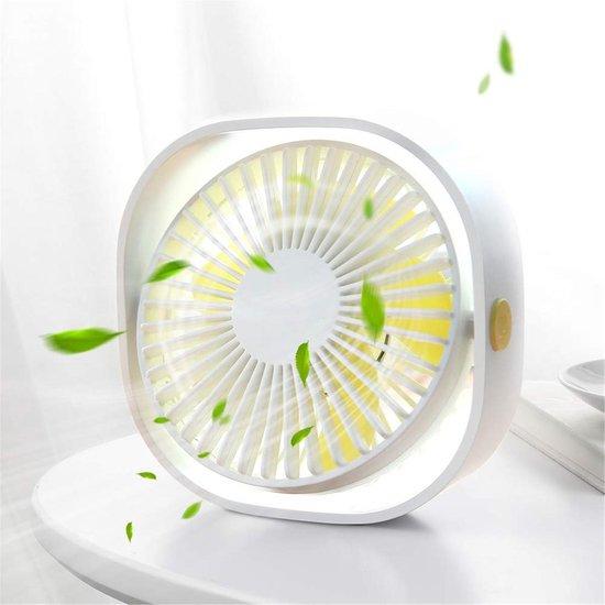 Krachtige Mini Fan Wit Bureau ventilator 3 Standen Stille Ventilator Compact Ventilator Tafelventilator Wit Stille Mini Usb Fan Bed