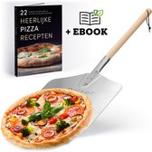 Qeizer - Pizzaschep - Geborsteld Aluminium - Metallic/Hout