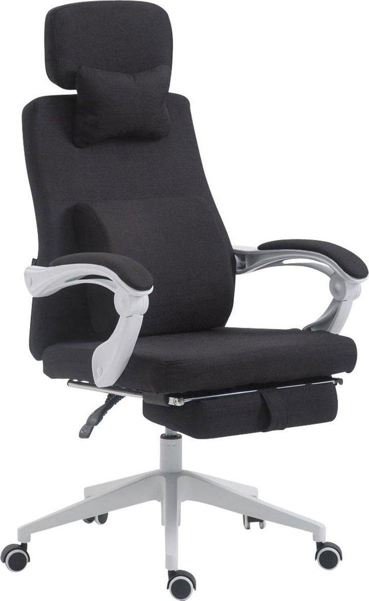 Bureaustoel - Bureaustoelen voor volwassenen - Hoofdkussen - Voetensteun - Verstelbaar - Stof - Zwart - 62x63x137 cm