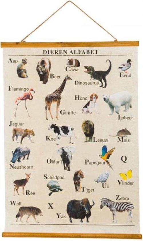 Wandposter Alfabet Dieren, Kinderkamer Dieren Poster, Poster Alfabet, Nederlands Leren