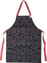 Vigar keukenschort - bling bling - zwart