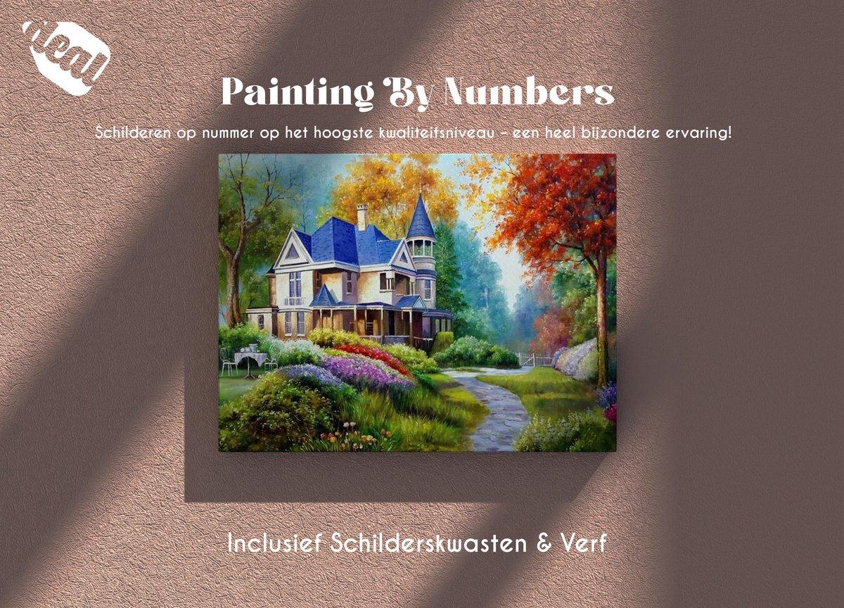 Deal Diamond Painting Schilderen Op Nummer Voor Volwassenen Inclusief Lijst, Canvas, Schilderskwasten & Verf - 40 x 50 cm - Landhuis