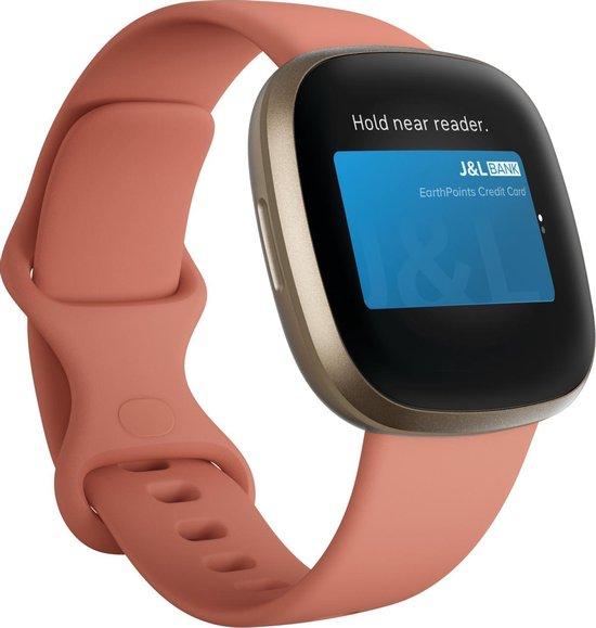 Fitbit Versa 3 - Smartwatch dames - Roze
