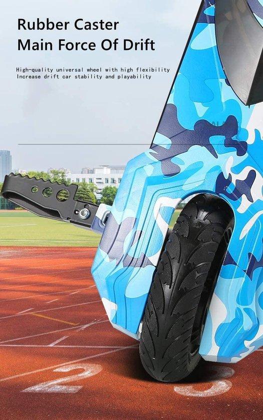 Drift elektrische super krachtige scooter kinderen drift Trike auto 3 wiel kinder speelgoed - Camouflage Blauw
