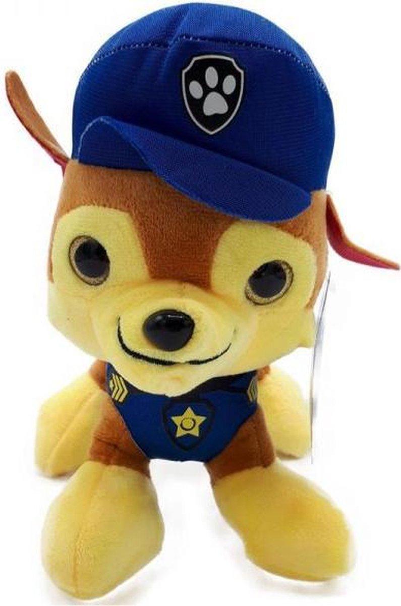PAW Patrols - Pup Pals Chase - Pluche Knuffel 26 cm | Paw Patrol & Friends | Chase - Rubble - Marshall - Skye - Zuma - Rocky - Ella - Tuck | Nickelodeon | Speelgoed