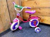 """Hello Kitty - Fiets met zijwieltjes - 10"""" inch / 25.4cm - Roze / Paars"""