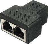 RJ45 Splitter 1 naar 2 Netwerk Adapter -  Connector - LAN