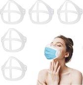 Mad Solutions - Mondmasker Beugel  5 stuks - Mondkapje  - Plastic Mondkapje - Lippenstift vriendelijk - Meer ruimte om te ademen - Mondmasker bracket - Wasbaar - Mondmasker houder - Beugel - 3D-beugel -  Verhoging van de ademruimte