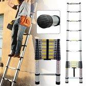USK Telescoop ladder - 6,20 meter - 16 treden - inclusief Stabilisatievoet -...